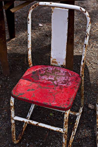Junkyard Photograph - Rusty Metal Chair by Garry Gay