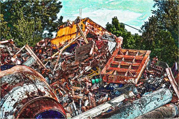 Scrap Iron Digital Art - Rusty Metal Stuff Iv by Debbie Portwood