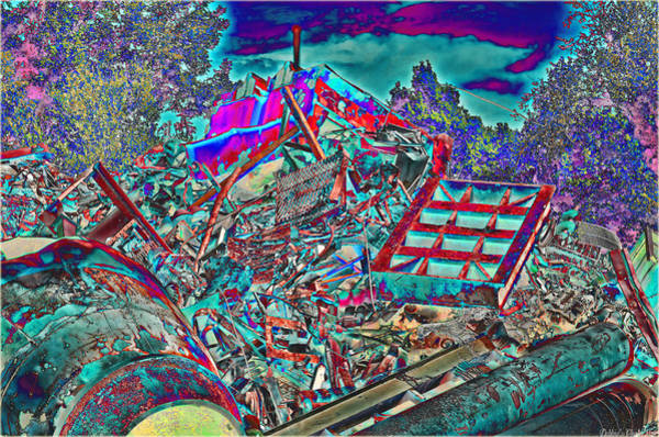 Scrap Iron Digital Art - Rusty Metal Stuff V by Debbie Portwood