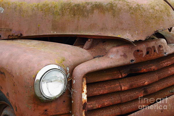 Photograph - Rusty Old Gmc Truck . 7d8403 by Wingsdomain Art and Photography