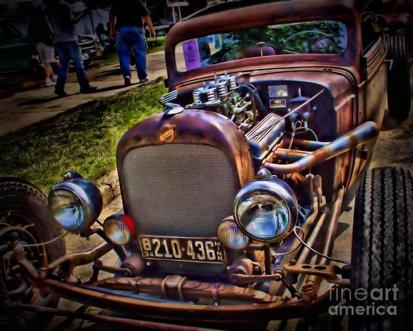 Street Rods Photograph - Rusty Rat Rod by Perry Webster
