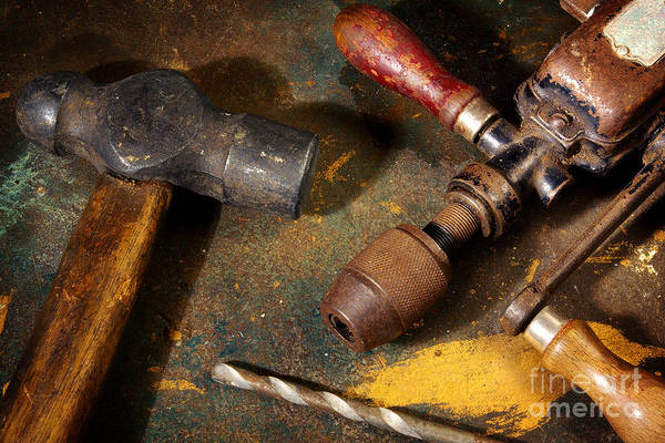 Household Objects Photograph - Rusty Tools by Carlos Caetano