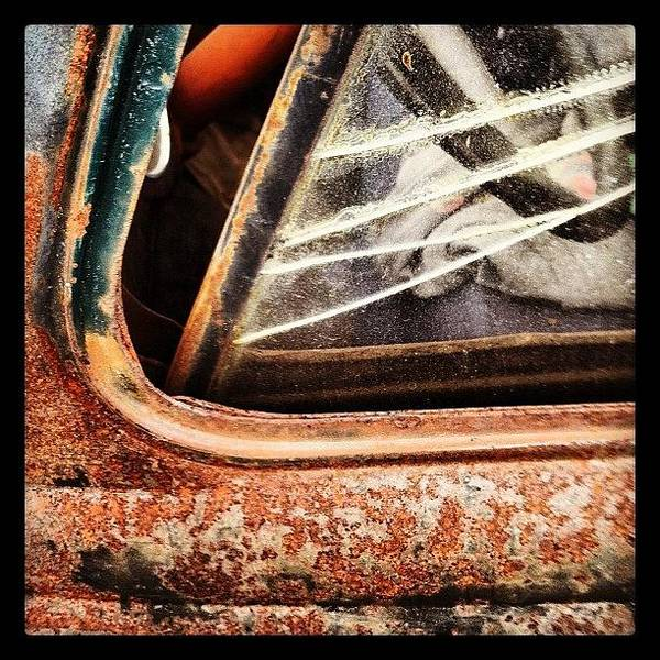 Car Photograph - Rusty Viewpoint by Gwyn Newcombe