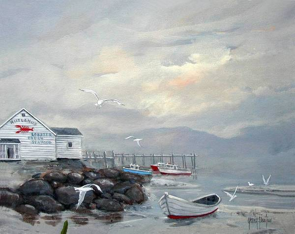 Painting - Rutlands Seafood Restaurant by Gary Partin