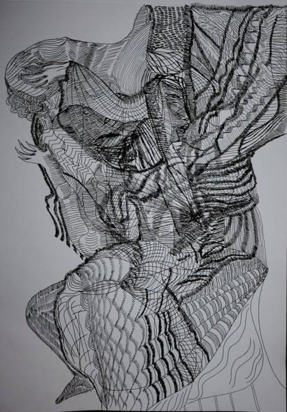 Drawing - Rwanda Intore Dance by Gloria Ssali
