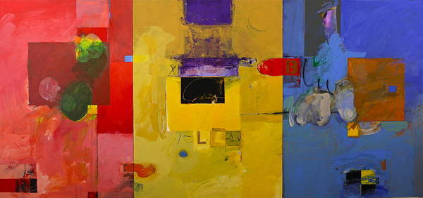 Painting - Ryb Triptych  by Cliff Spohn