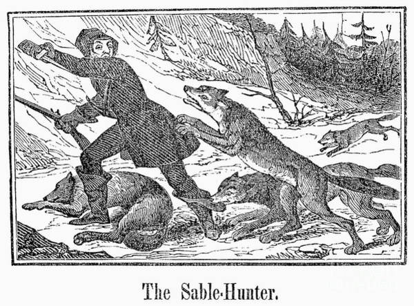 1841 Photograph - Sable Hunter, 1841 by Granger