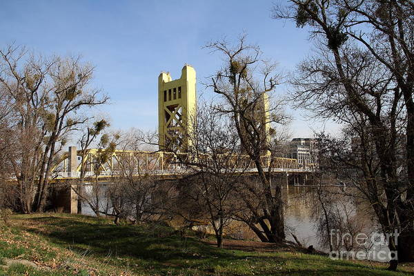 Photograph - Sacramento California Tower Bridge Crossing The Sacramento Delta River . 7d11395 by Wingsdomain Art and Photography