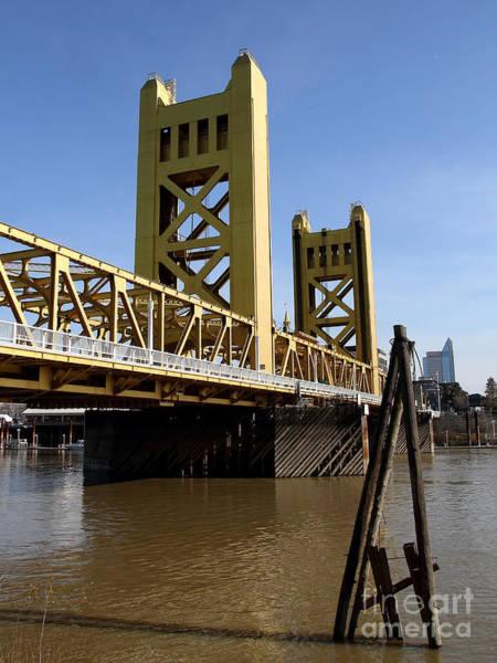 Sacramento California Tower Bridge Crossing The Sacramento Delta River . 7d11452 Art Print