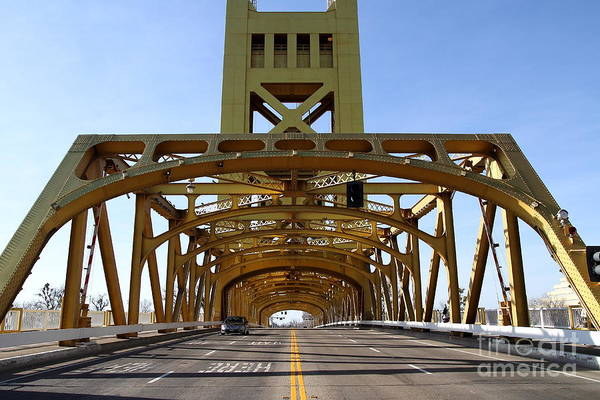 Photograph - Sacramento California Tower Bridge Crossing The Sacramento Delta River . 7d11569 by Wingsdomain Art and Photography
