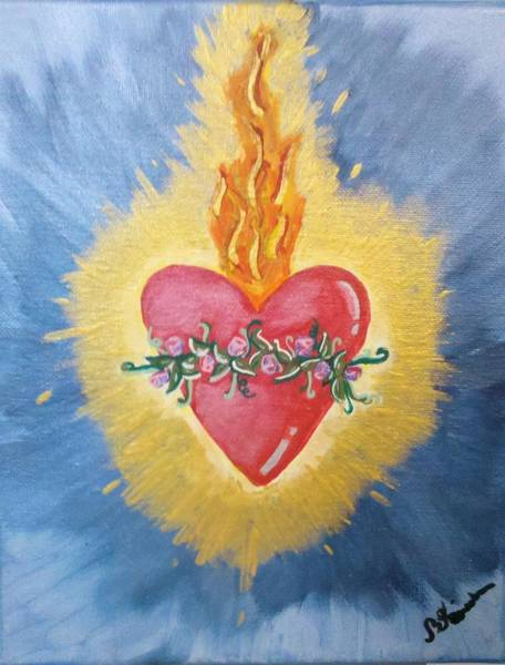 Tats Painting - Sacred Flame by Brandy Nicole Neal Stenstrom