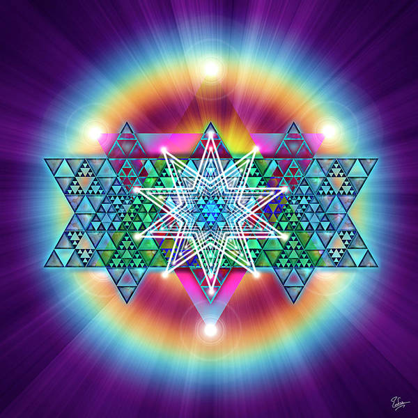 Digital Art - Sacred Geometry 13 by Endre Balogh