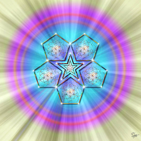 Digital Art - Sacred Geometry 19 by Endre Balogh
