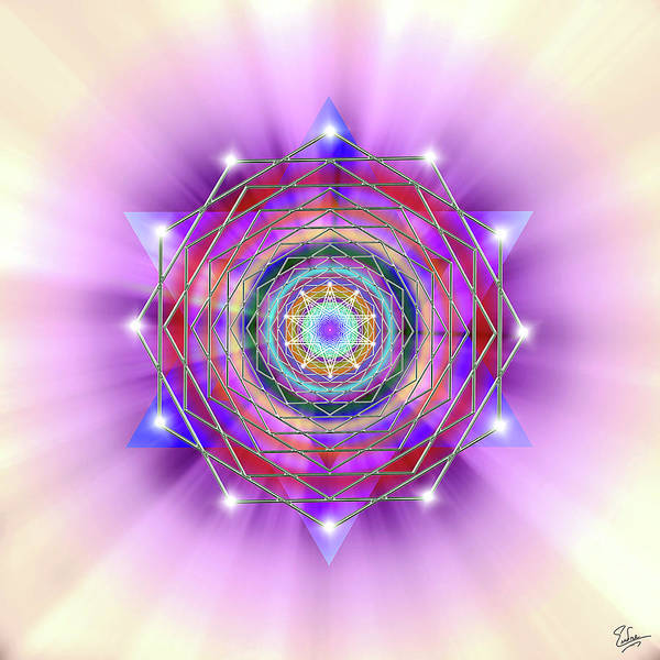 Digital Art - Sacred Geometry 22 by Endre Balogh