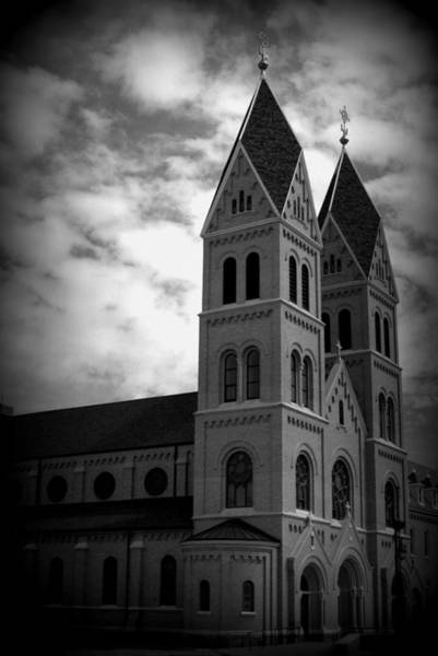 Sacred Heart Photograph - Sacred Heart Monastery In Black And White by Tam Graff