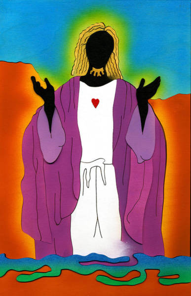 Mixed Media - Sacred Heart Of Jesus by Fred Gardner