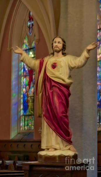 Sacred Heart Digital Art - Sacred Heart Of Jesus II by Susan Candelario