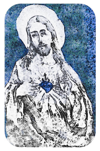 Photograph - Sacred Heart Of Jesus by Trish Tritz