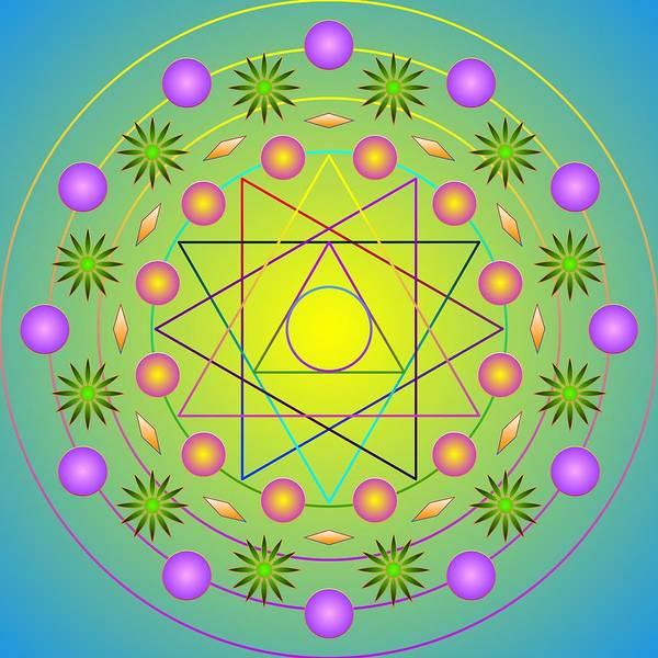 Digital Art - Sacred Prayer Wheel II 2012 by Kathryn Strick