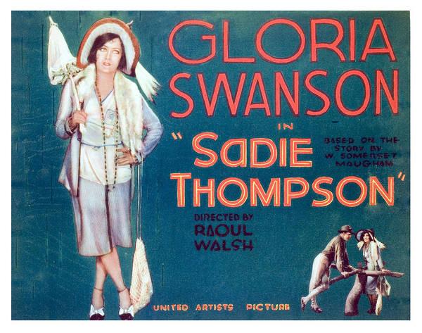 Gloria Swanson Photograph - Sadie Thompson, Gloria Swanson, 1928 by Everett