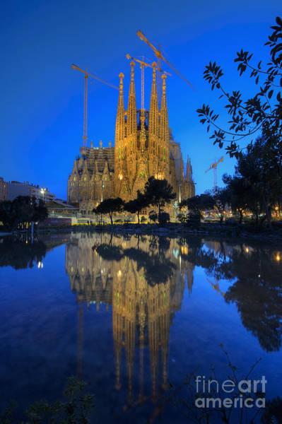 Photograph - Sagrada Familia At Dusk by Yhun Suarez