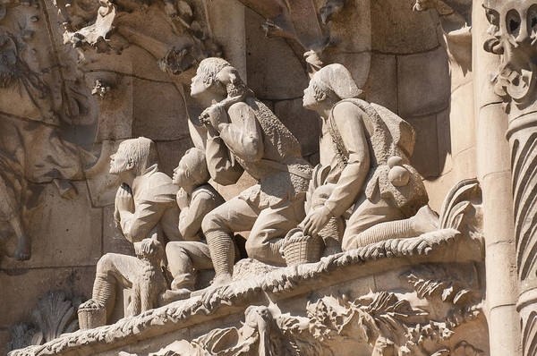 Photograph - Sagrada Familia Barcelona Nativity Facade Detail by Matthias Hauser