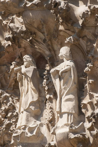 Photograph - Sagrada Familia Nativity Facade Detail by Matthias Hauser