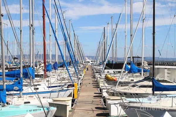 Photograph - Sail Boats At San Francisco China Basin Pier 42 . 7d7692 by Wingsdomain Art and Photography