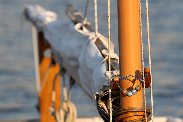 Photograph - Sailboat Mast And Boom by Juergen Roth