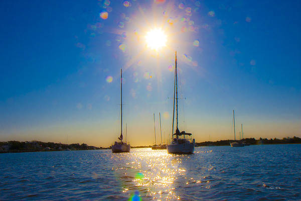 Sails Digital Art - Sailboats by Betsy Knapp