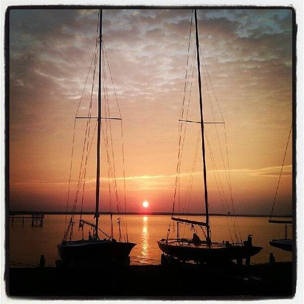 Wall Art - Photograph - Sailboats In The Sunset by Dustin K Ryan