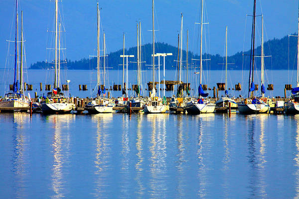 Sailing Photograph - Sailboats Reflections by Karon Melillo DeVega