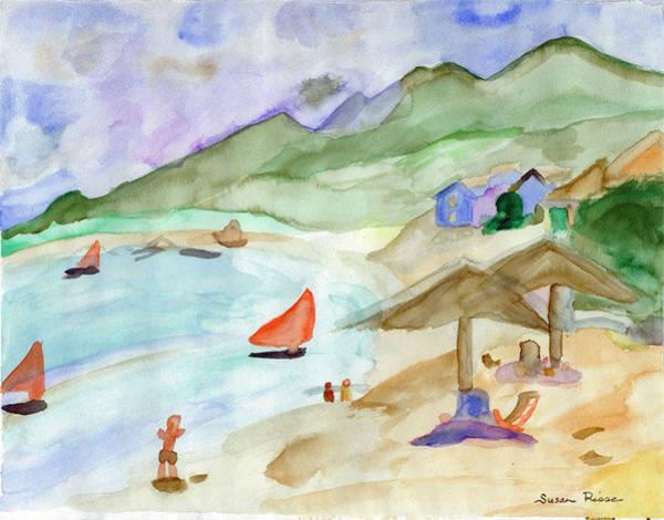 Sailboats Art Print by Susan Risse