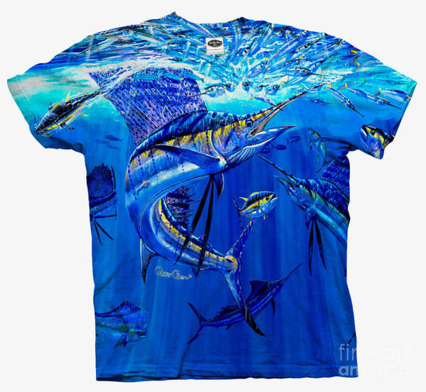 Chen Digital Art - Sailfish Ballyhoo Mens Shirt by Carey Chen