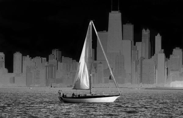 Photograph - Sailing In Lake Michigan by Milena Ilieva