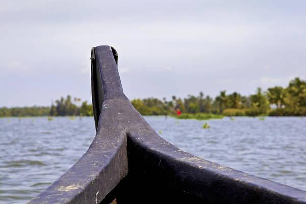 Straight Ahead Wall Art - Photograph - Sailing Kerala Backwaters by Kantilal Patel