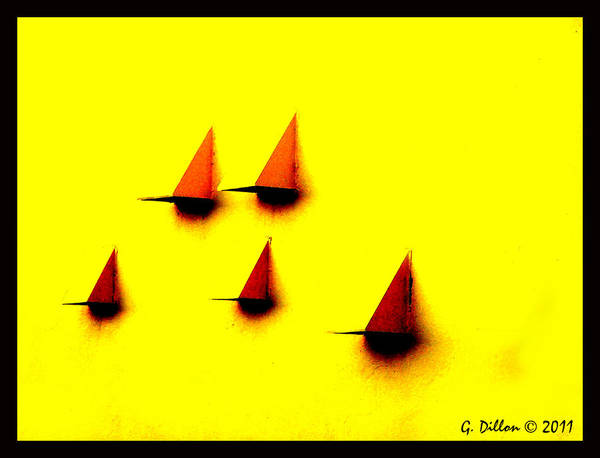 Digital Art - Sailing Teardrops by Grace Dillon
