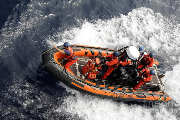 Photograph - Sailors Conducting Small Boat Training by Stocktrek Images