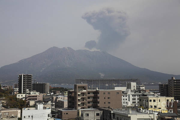 Photograph - Sakurajima Volcano As Viewed by Richard Roscoe