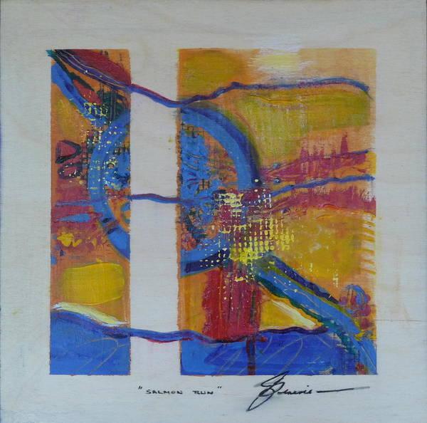 Spawn Painting - Salmon Run by Genevie Henderson