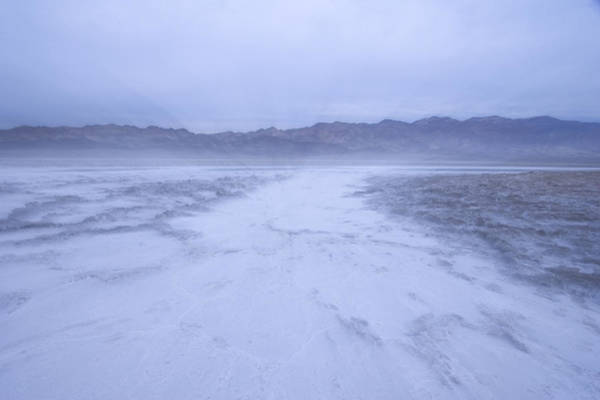 Furnace Creek Photograph - Salt Flats Appear Blue When Shot by Phil Schermeister