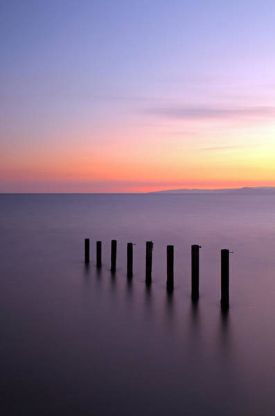 Photograph - Saltcoats Sunset by Grant Glendinning