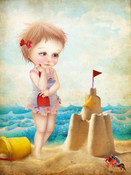 Wall Art - Digital Art - Samantha At The Shore by Jessica Von Braun