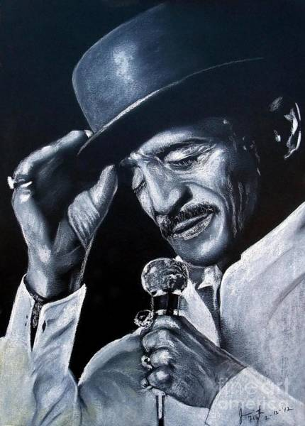Wall Art - Drawing - Sammy Davis Jr by Jim Fitzpatrick