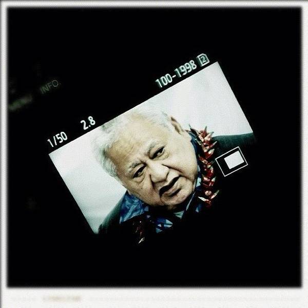 Political Wall Art - Photograph - Samoan Prime Minister #fuda #fairfax by Luke Fuda