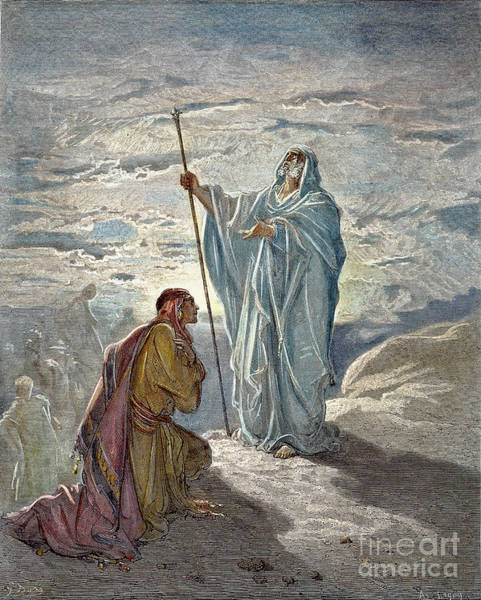 Drawing - Samuel And Saul by Gustave Dore