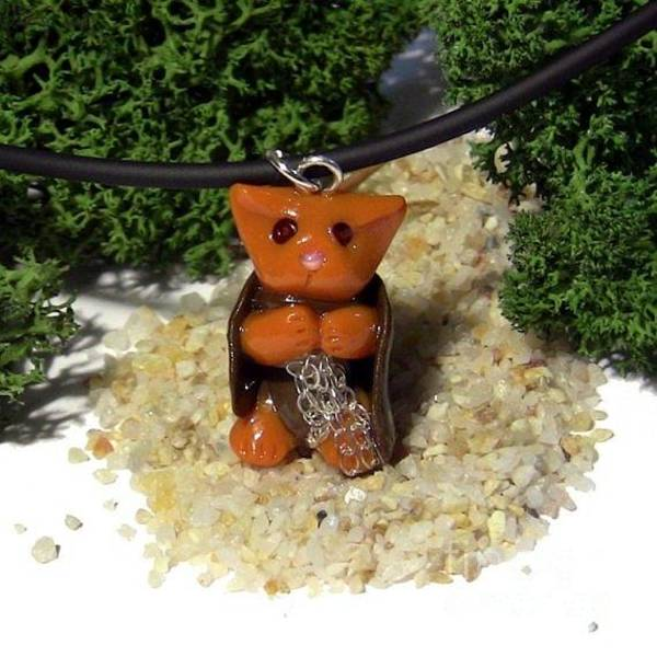 Jewelry - Samwise Kitty Lord Of The Rings Parody Necklace by Pet Serrano