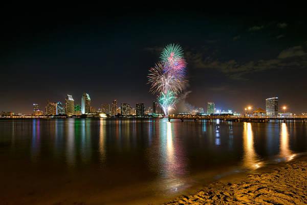 Photograph - San Diego Fireworks by Mark Whitt