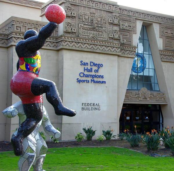 Photograph - San Diego Sports Museum by Jeff Lowe