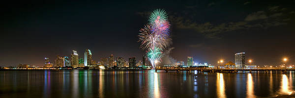 Photograph - San Diego Summer Pops Fireworks 2012 by Mark Whitt